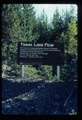 Tseax Lava Flow - Sign