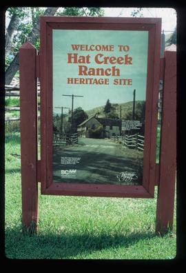 Hat Creek Ranch - Welcome Sign