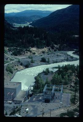 Lajoie hydroelectric generating station at Lajoie Dam on the Bridge River