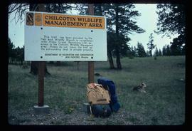 Chilcotin Wildlife Management Area Sign