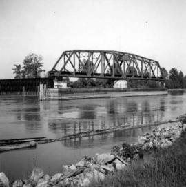 C.N.R. swing bridge over the Fraser River