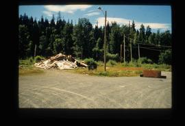 Closed Road and Debris from Demolition of Upper Fraser Townsite