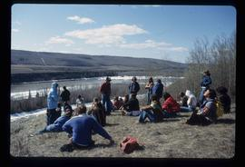 [Peace River?] - People on a Hill