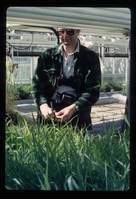 [Fort St. John?] - Man in a Greenhouse