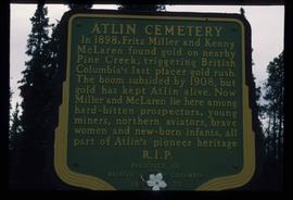 Atlin Cemetery Sign