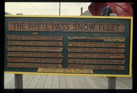 White Pass Snow Fleet Sign in Skagway