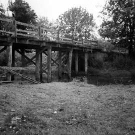 Wooden bridge crossing stream near Belrose