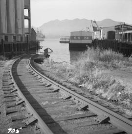 Rail barge slip in Vancouver harbour