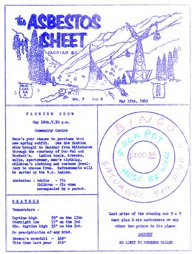 The Asbestos Sheet May 1963