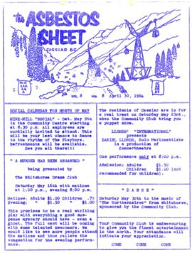 The Asbestos Sheet Apr. 1964