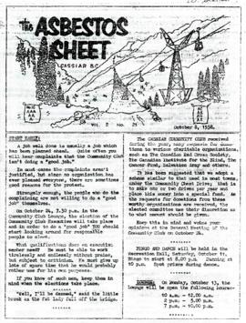 The Asbestos Sheet 8 Oct. 1958