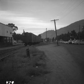C.P.R. train switching at Osoyoos, B.C.