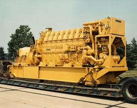 Caterpillar 3612 Engine on Flatbed