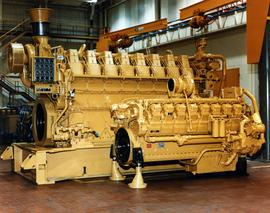 Caterpillar 3612 Engine in Large Building