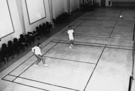 1965 - Unknown Men Playing Badminton in Rec Centre