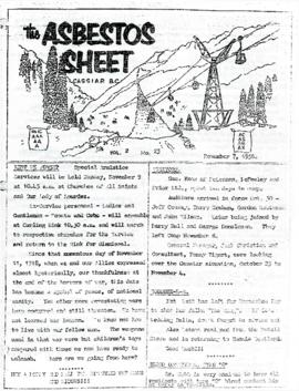 The Asbestos Sheet 7 Nov. 1958