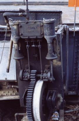 Engine near a turntable in Kamloops