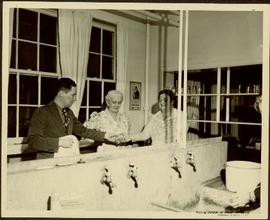 Mr. Williston in the kitchen of the Prince George School dormitory