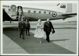 Princess Margaret arriving in Prince George