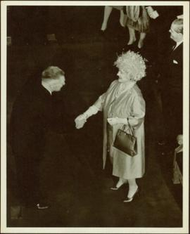 Ray Williston with the Queen Mother