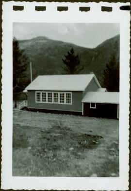 School house in front of mountain 2