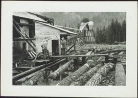 Sawmill workers and beehive burner