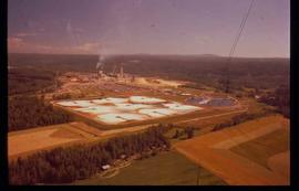 Pulpmill - General - Treatment pools and pulp mill - aerial