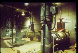 Pulpmill - General - Pulp mill interior - view of tanks and valves