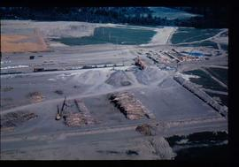Original Construction - Aerial perspecitve of ground preparation for initial construction