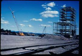 Original Construction - Crane erecting steel structure