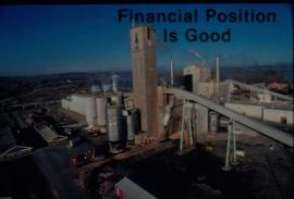 "Original Construction - Graphic presentation slide: ""Financial position is good"""