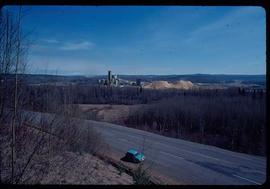 Pulpmill - Expansion Project - Pulp mill construction - view of mill from above roadway