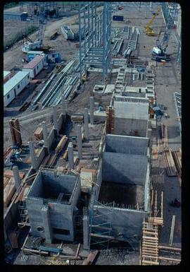 Pulpmill - Expansion Project - Aerial view of bottom floor of B-bleach plant seal chests