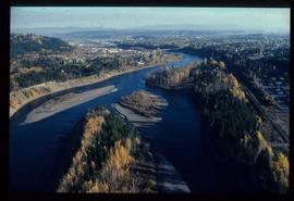 Community - Prince George -  Aerial view of Nechako River