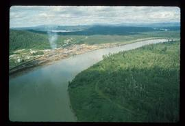 Upper Fraser Sawmill - General - Aerial view looking south