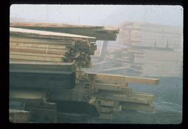 Upper Fraser Sawmill - General - Piled rouch cut wood
