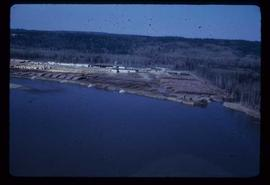 Prince George (P.G.) Sawmill - General - Aerial shot from river