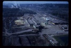 Prince George (P.G.) Sawmill - General - Aerial shot from north
