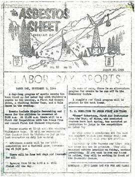 The Asbestos Sheet Aug. 1966