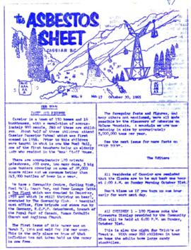 The Asbestos Sheet Oct. 1965