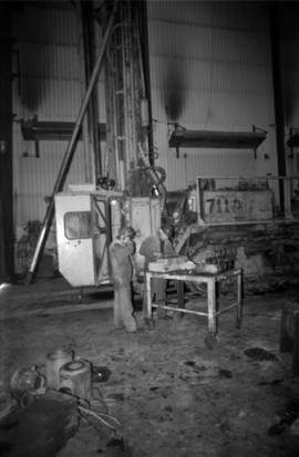 Workplace Album - Two Men & Blasthole Drill at Shop