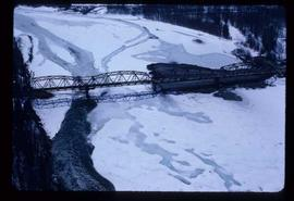 Woods Division -Fraser River Bridge Project - Aerial of completed bridge