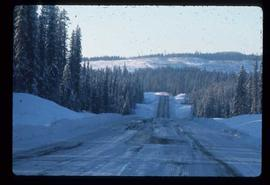 Woods Division - Roads - Looking west along the Yellowhead