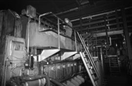 Workplace Album - Man on Ruston Engine in Power House