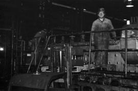 Workplace Album - Men on Ruston Engine in Power House