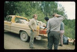 Woods Division - Timbercruising - Unpacking vehicle for field trip