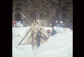 Woods Division - Timbercruising - Tenting during winter field trip