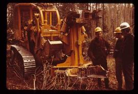 Woods Division - Mechanical Falling - Men standing around shear