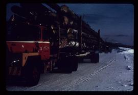 Woods Division - Hauling - Fully loaded logging truck