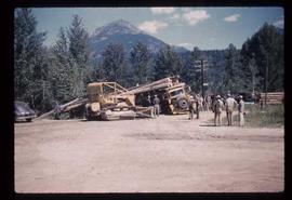 Woods Division - Misc. Equipment & Shows - Log truck load spilled